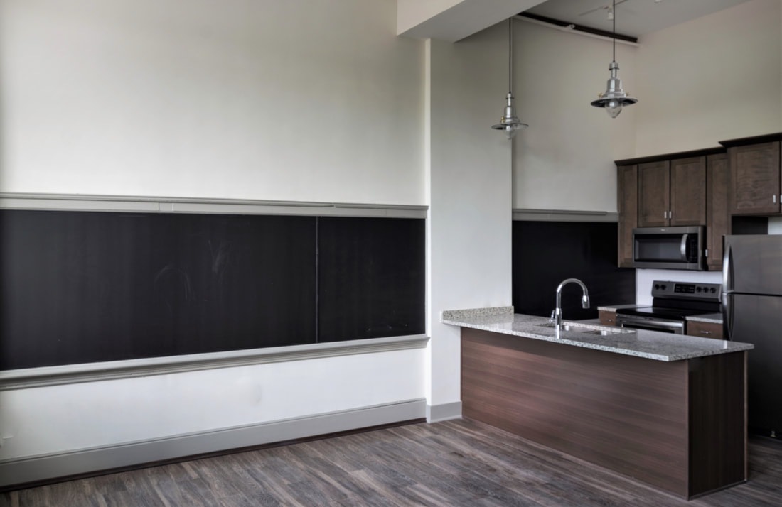 Norman School Lofts Chalkboard Kitchen