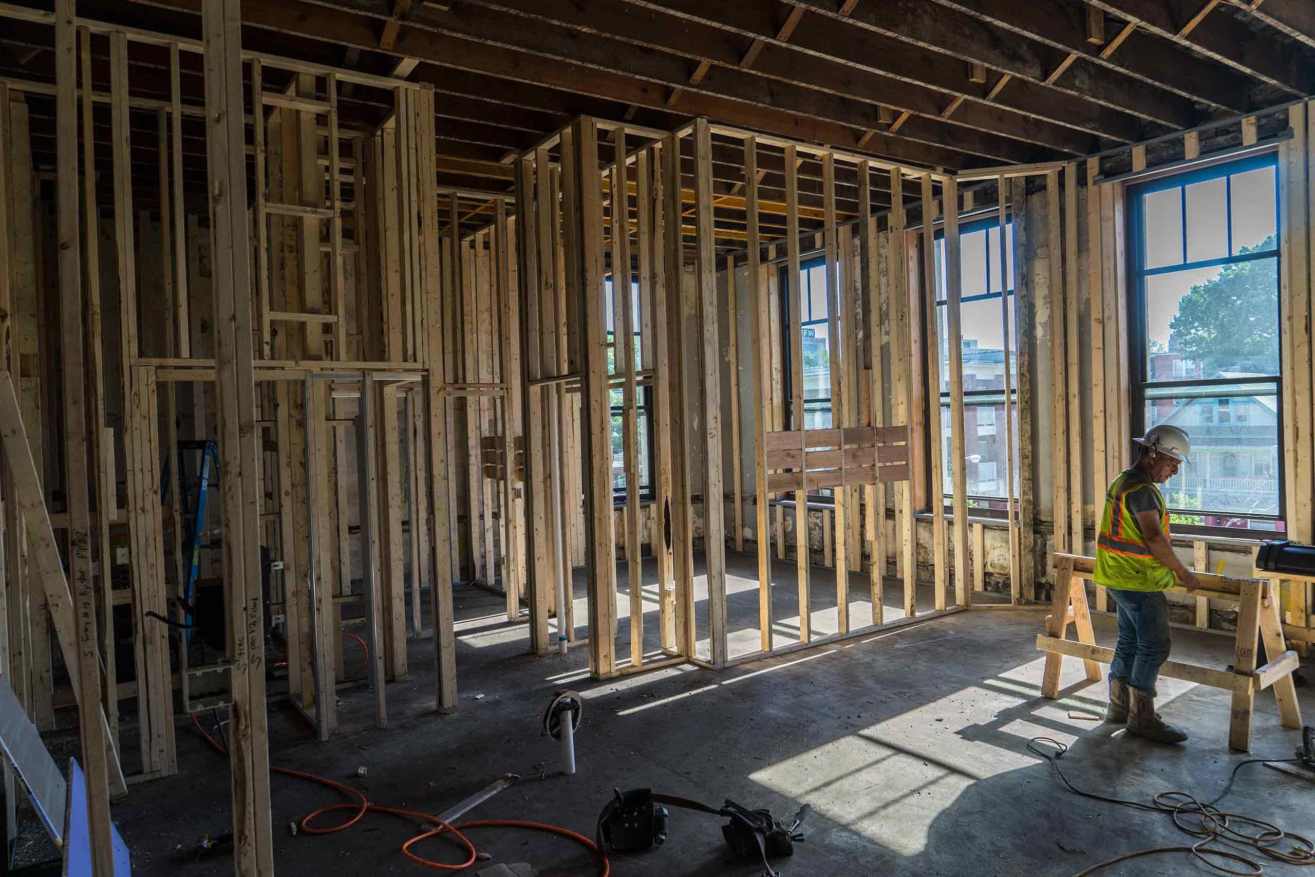 Norman-School-Lofts-Framing