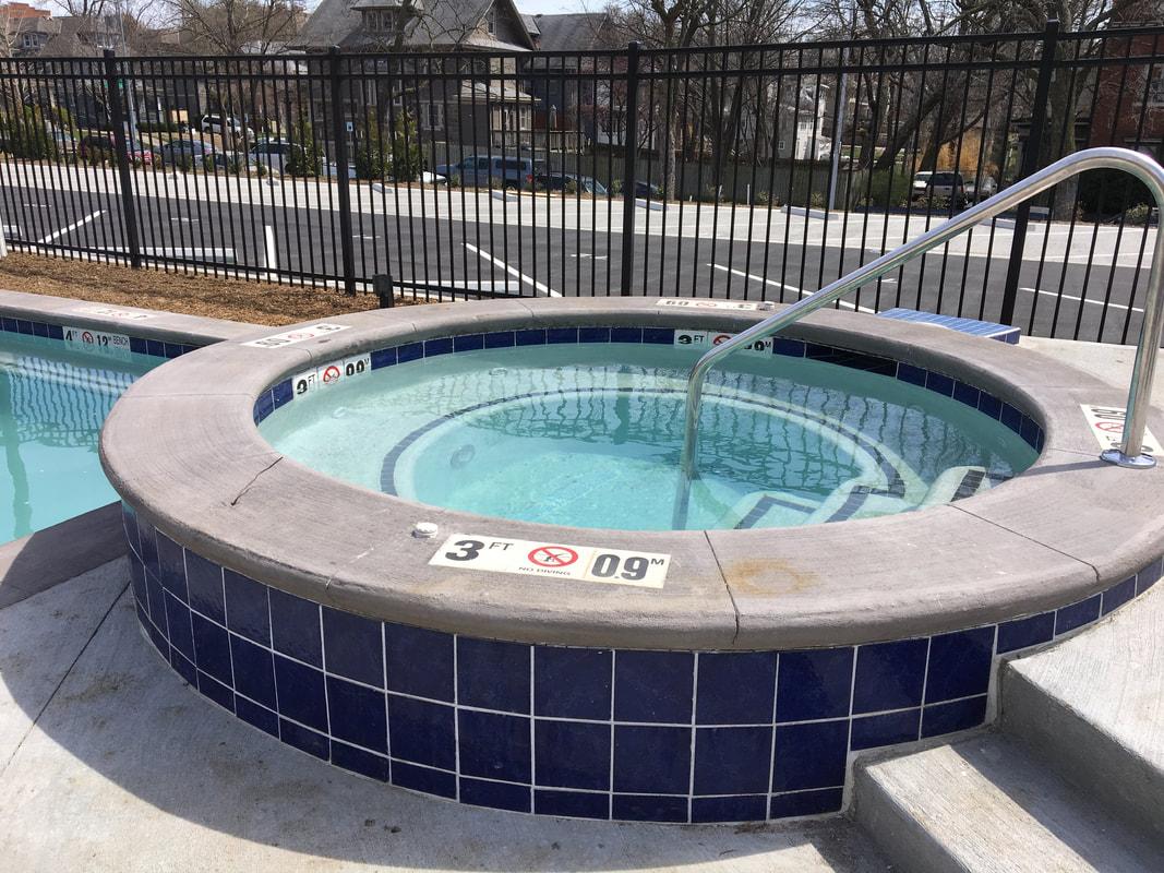Norman School Lofts Hot Tub
